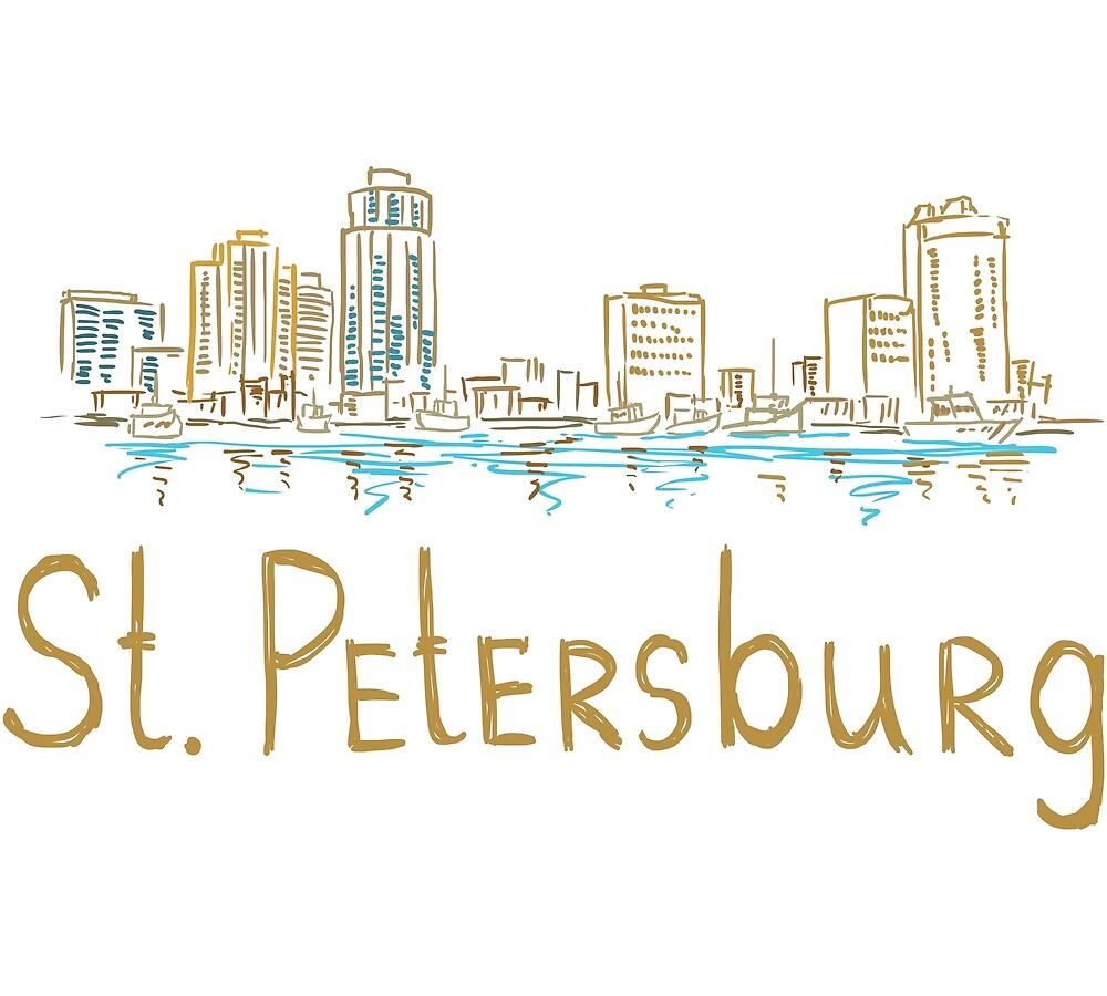 St. Petersburg City Panorama by MichaelRellov
