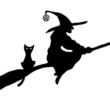 Witch on a Broom silhouette by imphavok
