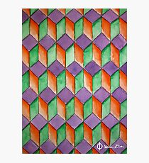 Geometric Watercolor Pattern Photographic Print