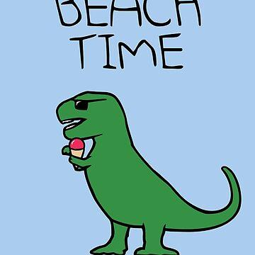 Beach Time (T-Rex Ice Cream) by jezkemp