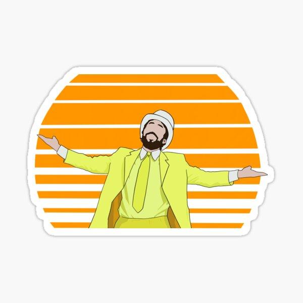 Retro Sunny Design  Sticker