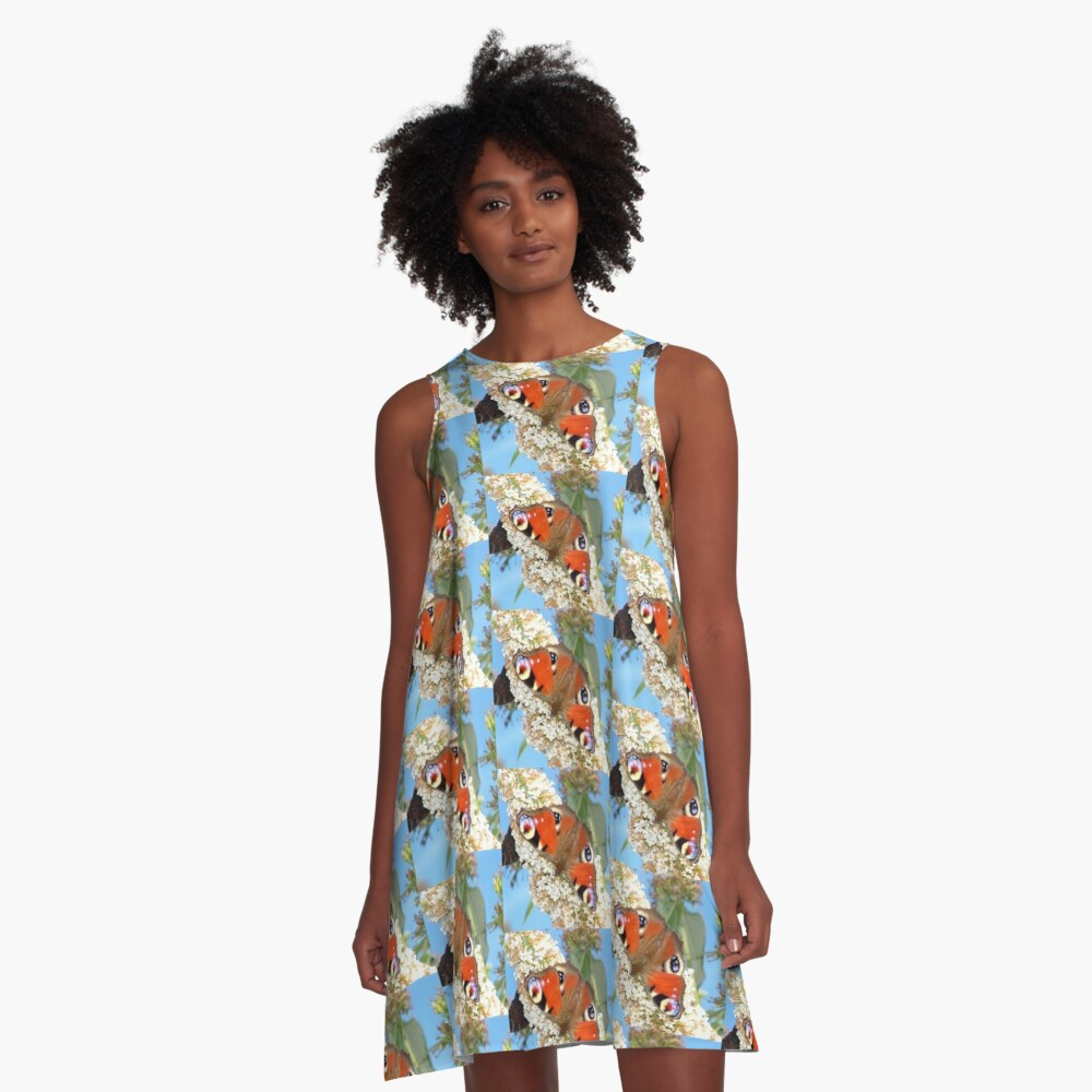 Butterfly close up A-Line Dress Front