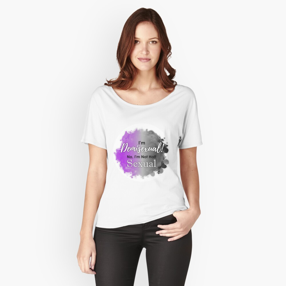Demi Doesn't Mean Half Women's Relaxed Fit T-Shirt Front