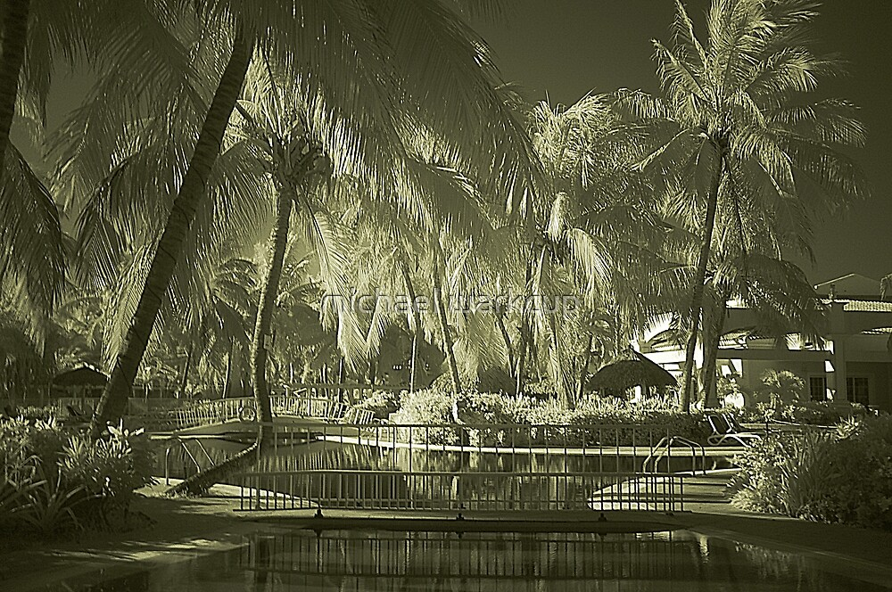 Infra Red Hotel Pool by michael warkcup