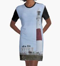 Portland Bill lighthouse Graphic T-Shirt Dress