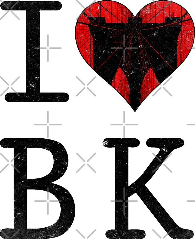 "i love brooklyn, new york, nyc, bk"" stickersiconyc | redbubble"