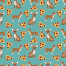 Chihuahua pizza dog breed pet pattern animal lovers by PetFriendly