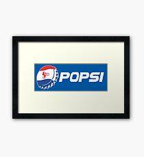 Popsi Wheelie (Parody) Framed Print