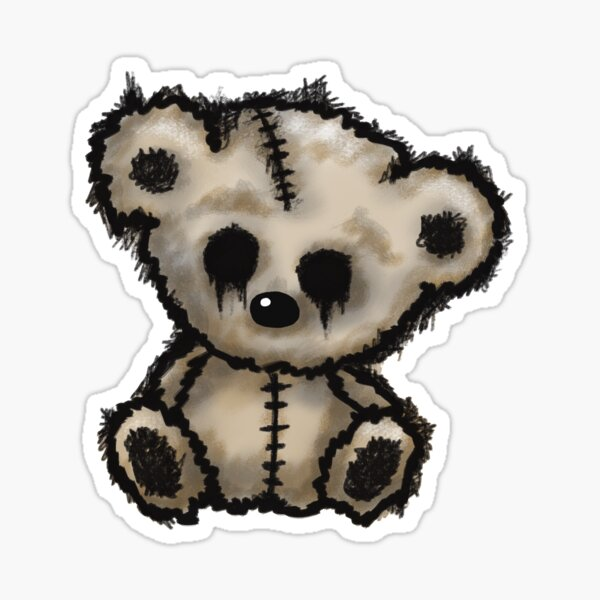 Scary Teddy Bear Clip Art, HD Png Download - kindpng