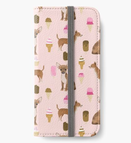 Chihuahua ice cream dog breed pet pattern animal lovers iPhone Wallet