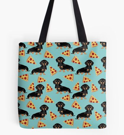 dachshund pizza dog breed pet pattern animal lovers Tote Bag