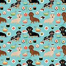 dachshund sushi dog breed pet pattern animal lovers by PetFriendly