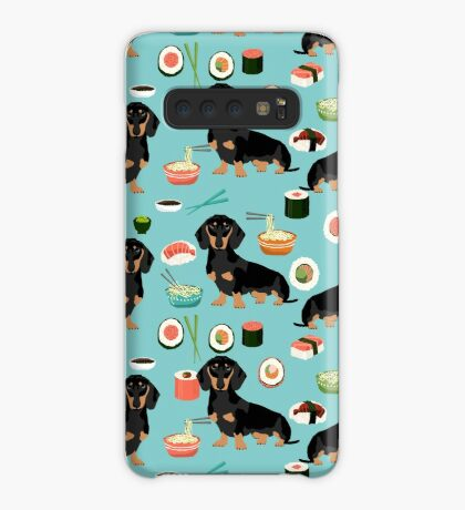 dachshund sushi dog breed pet pattern animal lovers Case/Skin for Samsung Galaxy