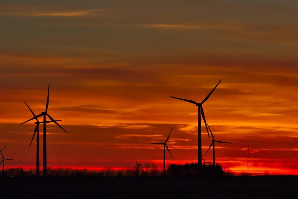 Windmill sunrise by Brad Chambers