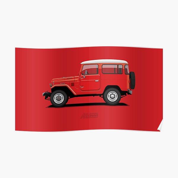 Land Cruiser FJ40 HardTop Red Poster