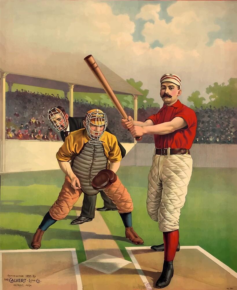 Vintage Baseball Poster by simbamerch