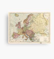 Atlas Map of Europe (1912) Metal Print