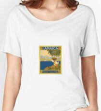 Jamaica The Gem Of The Tropics Vintage Travel Poster 1910 Women's Relaxed Fit T-Shirt