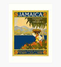 Jamaica The Gem Of The Tropics Vintage Travel Poster 1910 Art Print