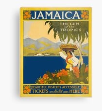 Jamaica The Gem Of The Tropics Vintage Travel Poster 1910 Metal Print
