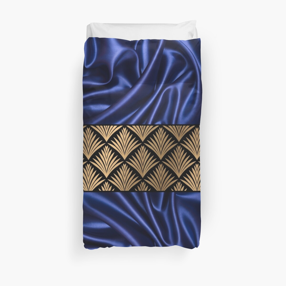 Dark Blue Satin Luxury Pattern by CarlosV