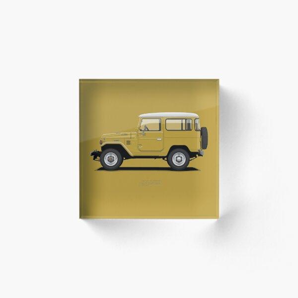 Land Cruiser FJ40 HardTop Mustard Yellow Acrylic Block