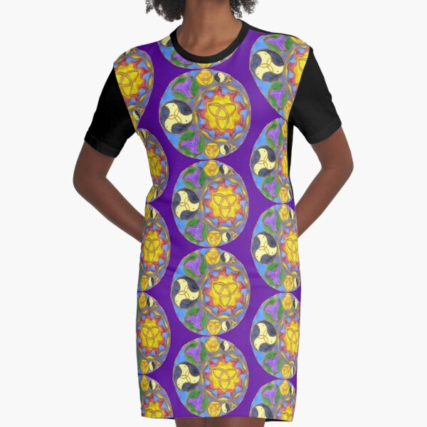 Heaven and Earth Graphic T-Shirt Dress