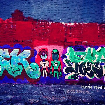 Nerd Super Heroes Abstract Graffiti by Kater