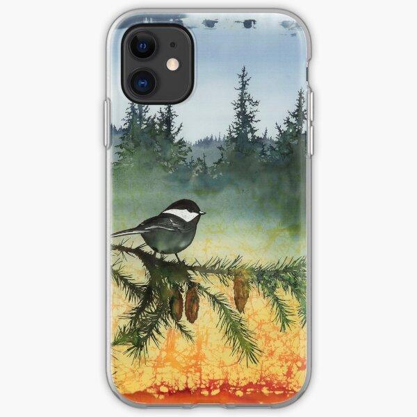 Chickadees in My Backyard iPhone Soft Case