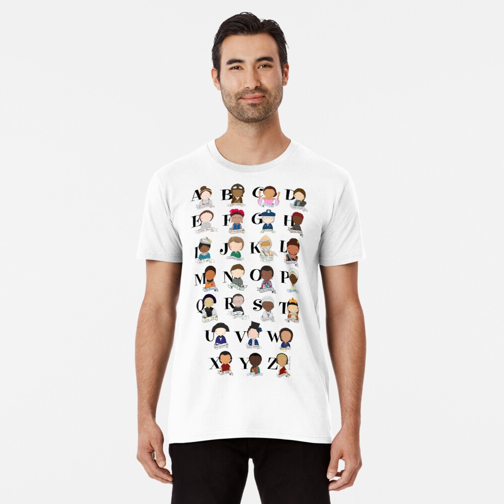 Awesome Woman Alphabet Premium T-Shirt