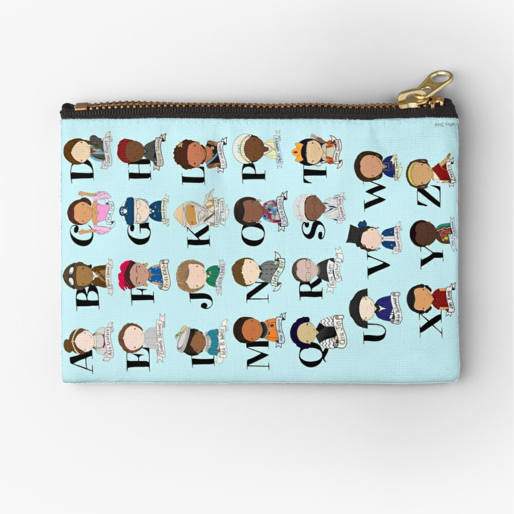Awesome Woman Alphabet Zipper Pouch