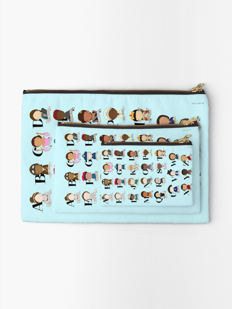 Alternate view of Awesome Woman Alphabet Zipper Pouch