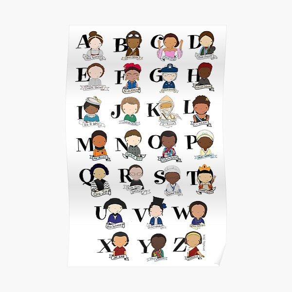 Awesome Woman Alphabet Poster
