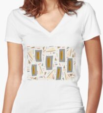 Retro Chic Women's Fitted V-Neck T-Shirt