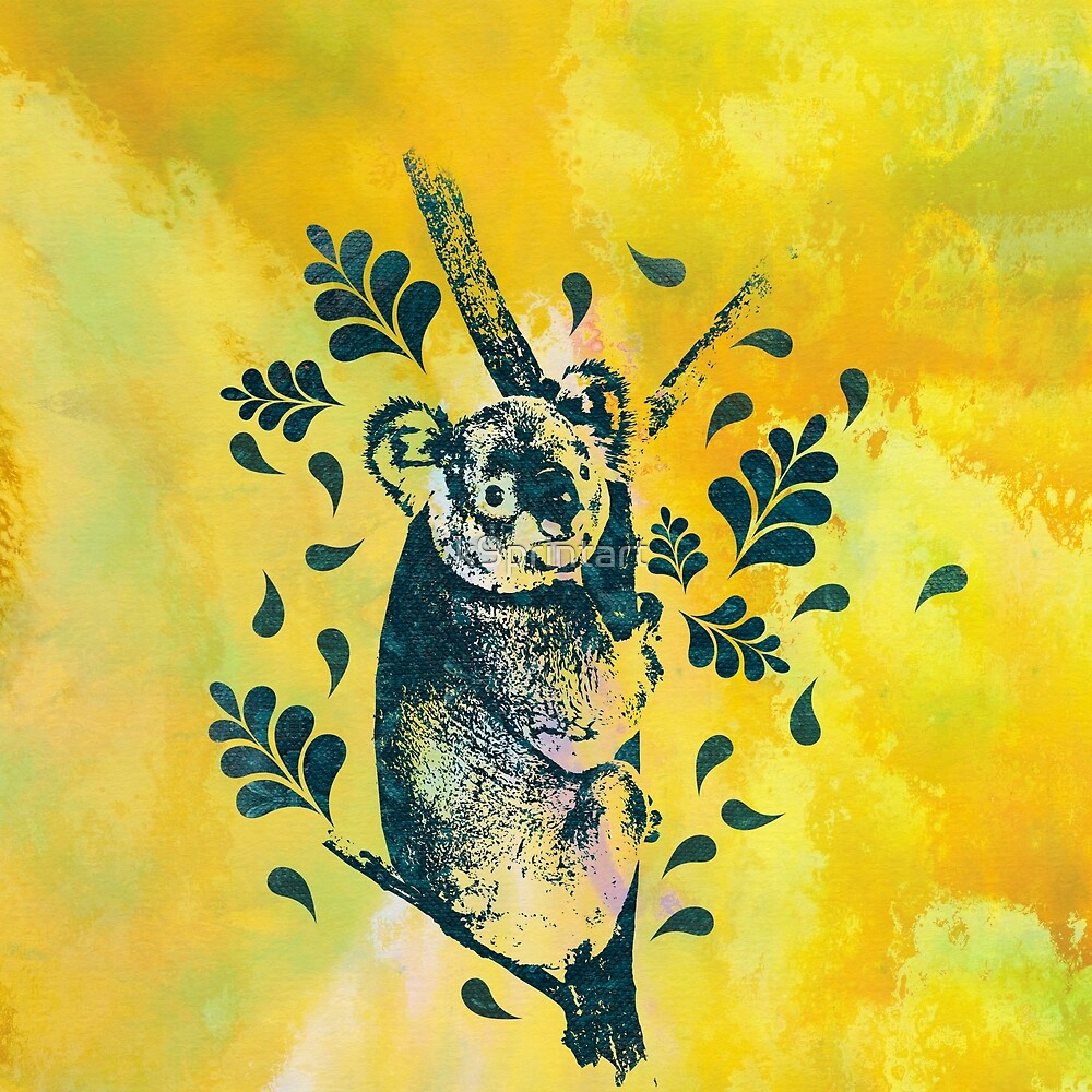 Koala Bear Digital Art by k9printart