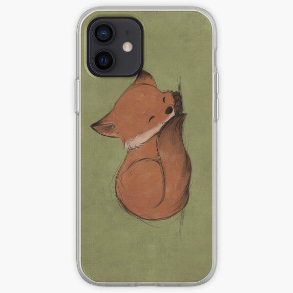 Sleepy fox iPhone Soft Case
