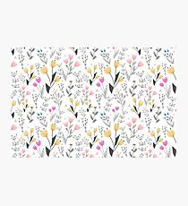 The Cute Floral Pattern II Photographic Print