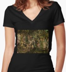 Earth view Women's Fitted V-Neck T-Shirt