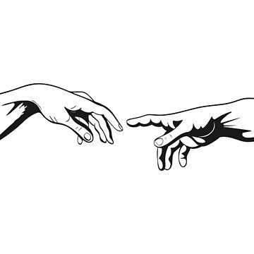 Adam and God hands by Viktoriia