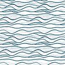 Seapattern. Hand gezeichnete Wellen von Viktoriia
