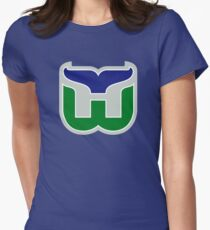 HARTFORD WHALERS HOCKEY RETRO Women's Fitted T-Shirt