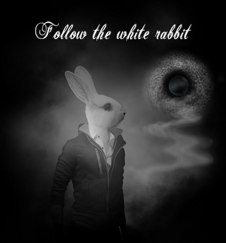 white rabbit by el-Uman
