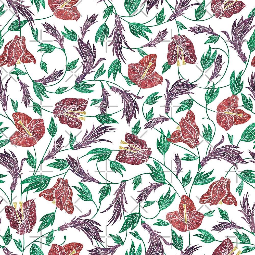 Tropical Flowers Pattern by artonwear