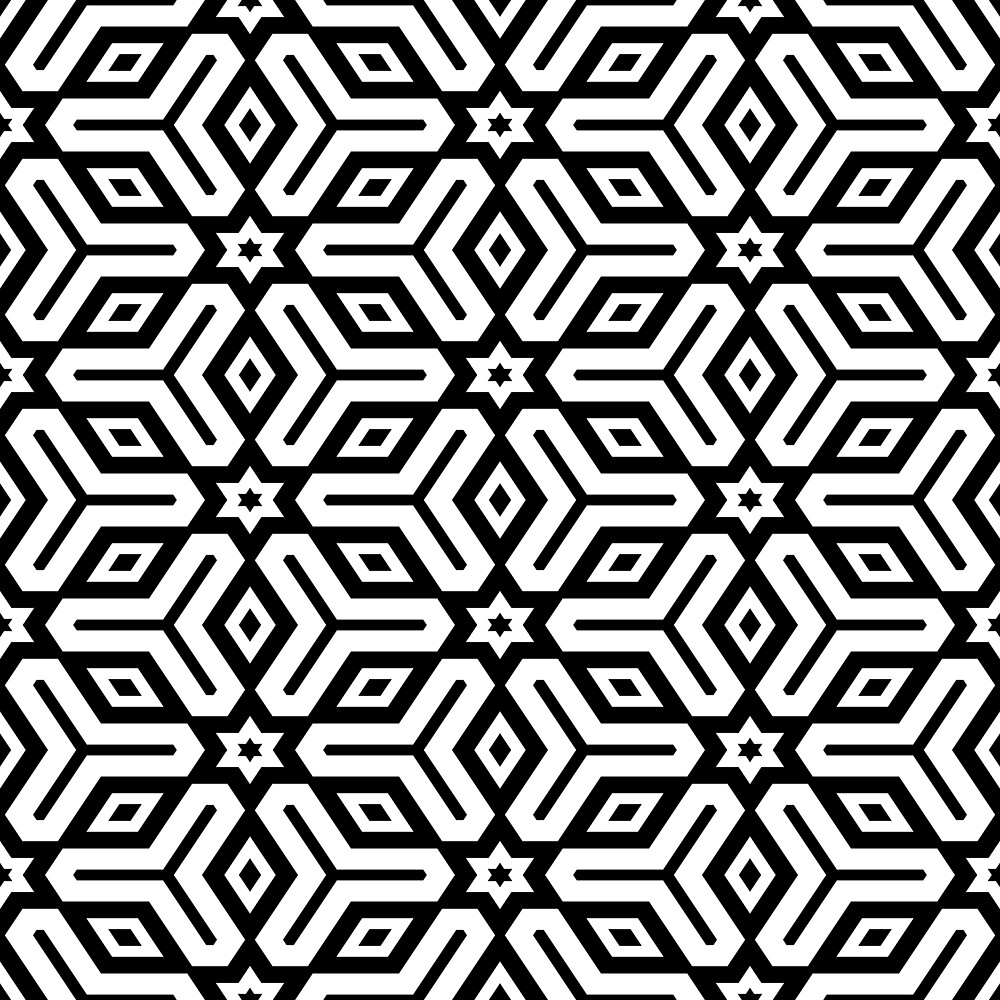 Black and White Geometric Pattern by Alexander Nedviga