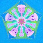 Pink and Blue Pattern by Betty Mackey