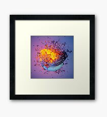 Abstract Water Toroids Framed Print