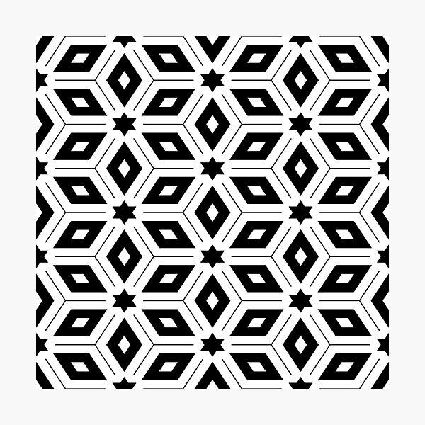 Monochrome Geometric Pattern Photographic Print