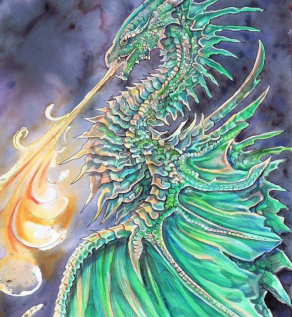 Emrald Dragon by Dawn Paws