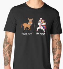 Your Aunt My Aunt Funny Cute dabbing Unicorn T-shirt  Men's Premium T-Shirt