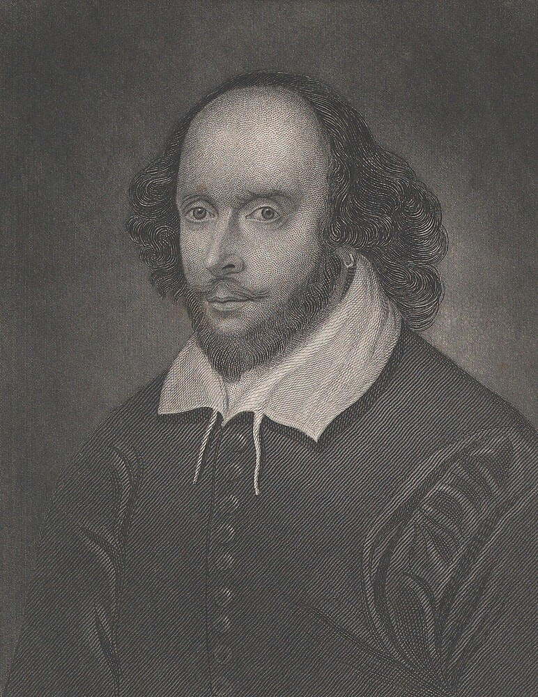Vintage Portrait of William Shakespeare (1800s) by BravuraMedia